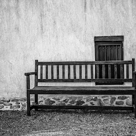 The Bench by Ebtesam Elias - Black & White Objects & Still Life