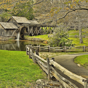 Mabry Mill  by Bud Schrader - Buildings & Architecture Public & Historical ( mills, waterscape, historic structures, mabry mill, blue ridge parkway )