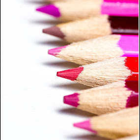 by Kev Bates - Artistic Objects Other Objects ( colour, macro, stationary, close up, pencils )