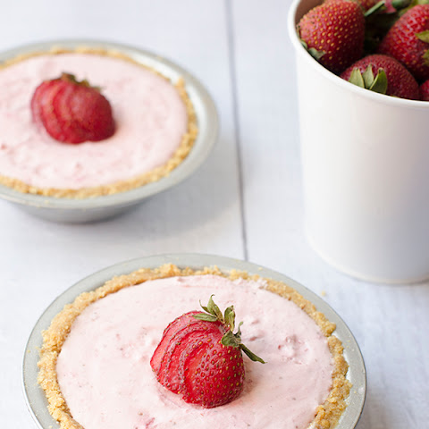 Individual Strawberry Cheesecakes