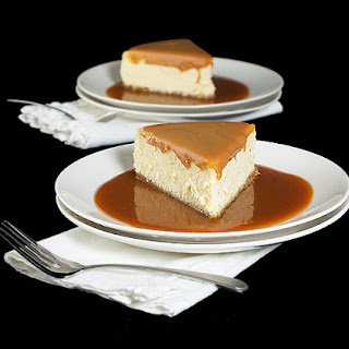 Amaretto Cheesecake with Almond Crust and Amaretto-Caramel Sauce