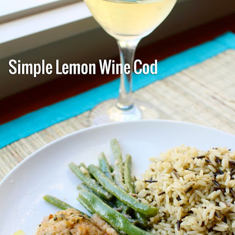 Simple Lemon and Wine Cod