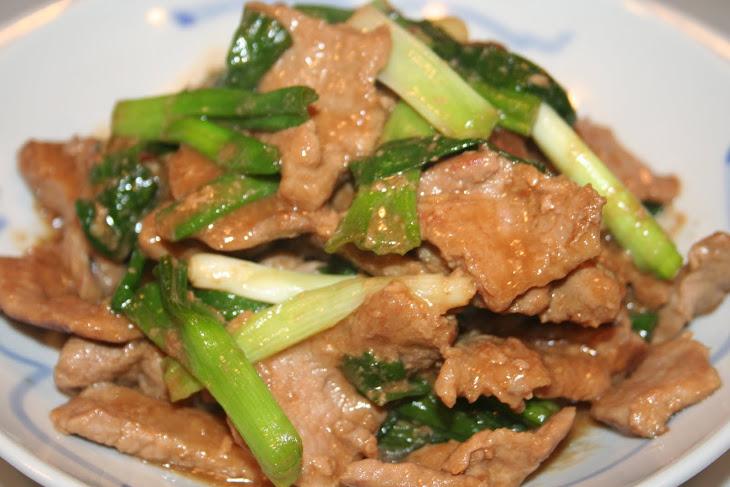 Stir Fry Pork and Green Onions Recipe | Yummly