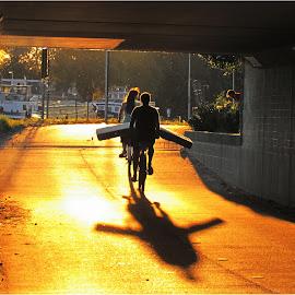 by Fred Starkey - City,  Street & Park  Street Scenes