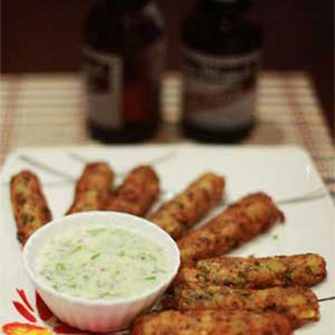 Bangus Fritters with Yogurt-Honey Sauce