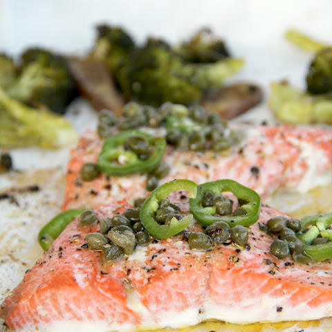 Baked Salmon with Chili-Caper Vinaigrette