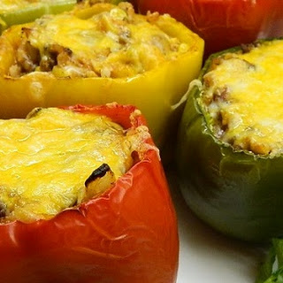 Potato Stuffed Bell Peppers