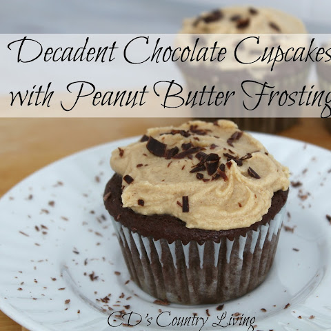 Decadent Chocolate Cupcakes with Peanut Butter Frosting