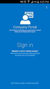 Intune Company Portal Business app for Android Preview 1