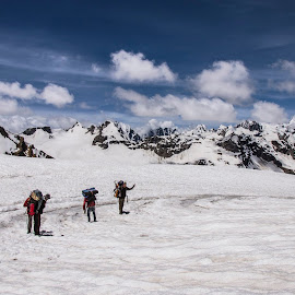Go ahead by Tamal Das - Landscapes Travel ( hill, blue sky, mountain, ice, trekking, snow, cloud, travel, himalayas )