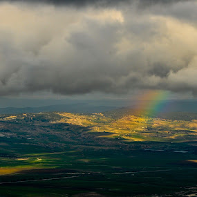 Rainbow by Booba Booba - Landscapes Mountains & Hills ( clouds, mountain, rainbow )
