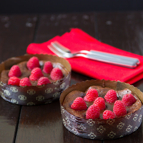 Raspberry Brownie Tarts