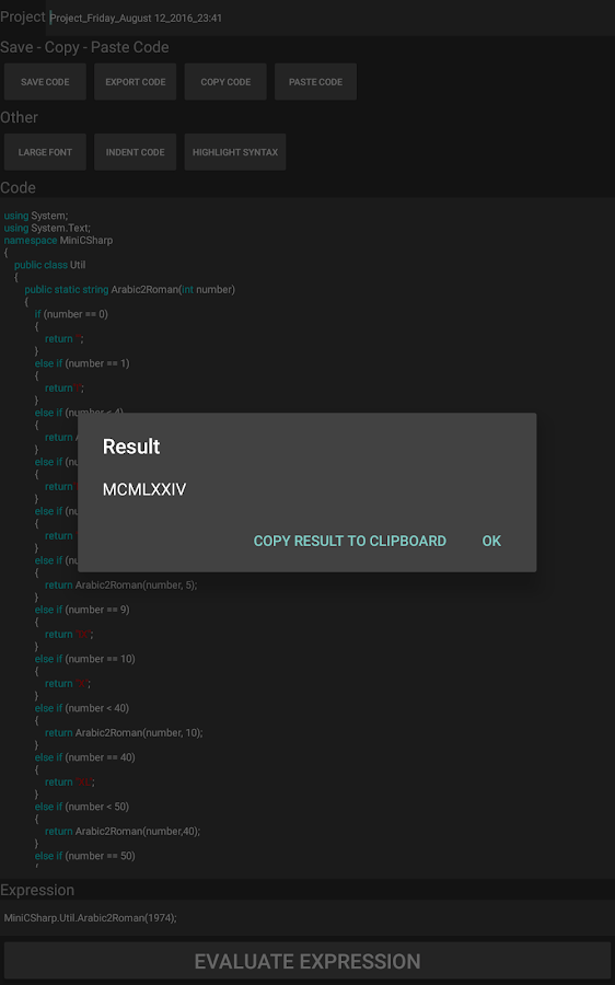 Mini C# Pro Screenshot 2