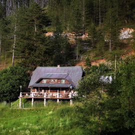 Valley of Serenity by Mirko Ilić - Buildings & Architecture Homes ( home, mountain, serenity, forest, valley )