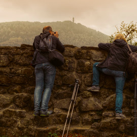 Landscape hunters  by Klaus Müller - People Street & Candids ( candids, camera, photographer )
