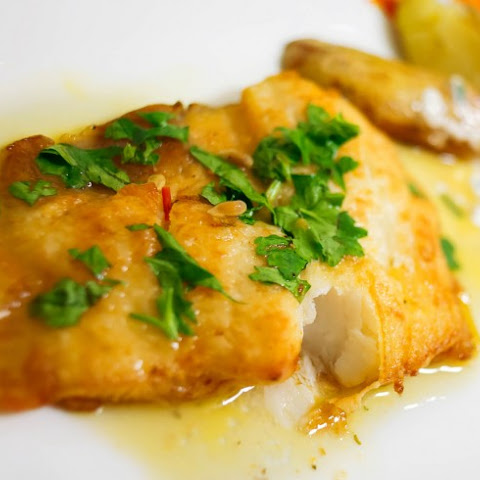 Apricot-Glazed Halibut