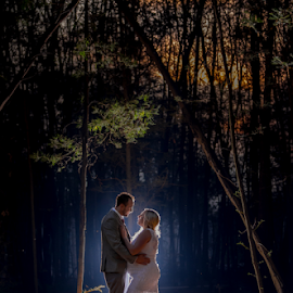 Forrest by Lood Goosen (LWG Photo) - Wedding Bride & Groom ( wedding photography, wedding photographers, backlit, forrest, wedding, weddings, wedding day, pregnant, night, bride and groom, wedding photographer, bride, groom, bride groom )