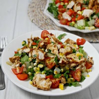 Grilled Southwestern Chicken Salad with Honey Lime Vinaigrette