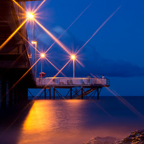 Nightcliff Jetty by Mia Iversen - Landscapes Waterscapes