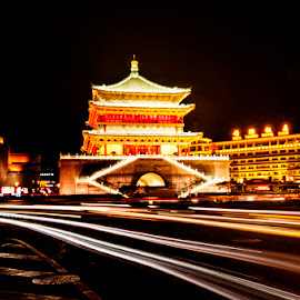 The Bell Tower of Xi'an by Syarif Rohimi - City,  Street & Park  Historic Districts