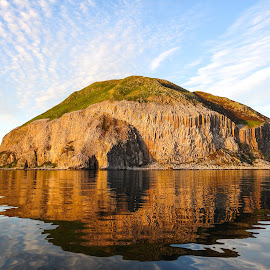 Ailsa Craig Sunset by Roderick Leitch - Landscapes Waterscapes ( scotland, ailsa craig, sunset, gannet colony, firth of clyde., island )