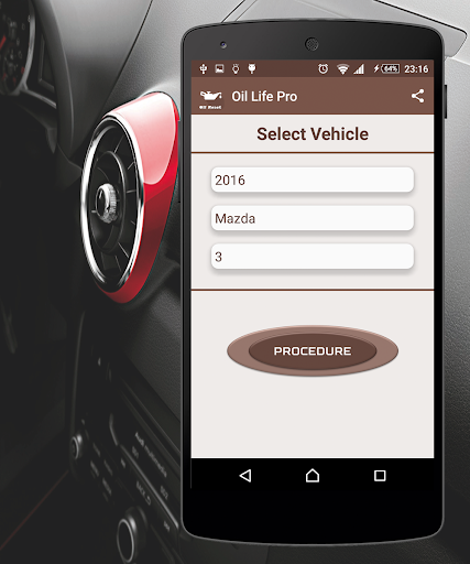 Reset Oil Service Pro - screenshot