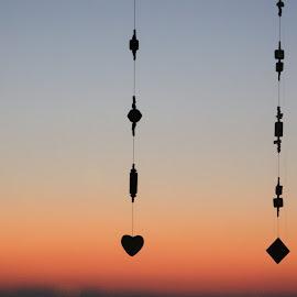 Beads in sunrise by Louisa Botha - Artistic Objects Other Objects ( nature, artistic, beads, object, sunrise )