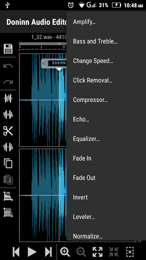 Doninn Audio Editor Screenshot 6