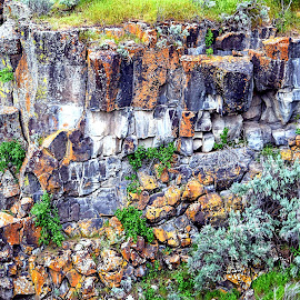 Colorful Rock Wall by Rob Bradshaw - Landscapes Mountains & Hills ( colorful rocks, rock hill, rocks, cliff, colorful rock wall, landscape )