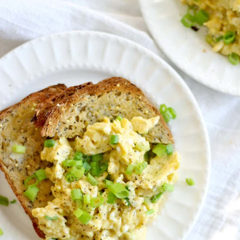 Soy Sauce and Green Onion Scrambled Eggs