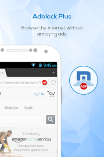Maxthon Browser - Adblock Screenshot