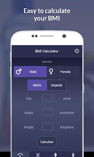 BMI Fitness Calculator - screenshot