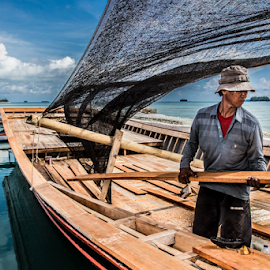 boatman by Leo Nugraha - People Portraits of Men