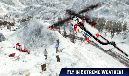Helicopter Rescue Snow Storm - screenshot