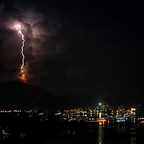 lightning at Lumut,Malaysia by Chef Faizal - Landscapes Weather