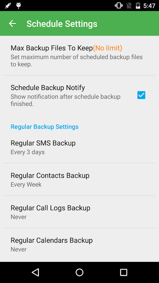 Super Backup Pro: SMS&Contacts Screenshot 3