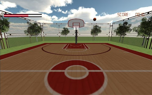Basketball game - screenshot