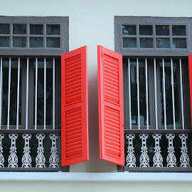 Red Windows by Koh Chip Whye - Buildings & Architecture Other Exteriors