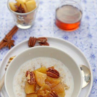 Spiced Apple, Maple And Toasted Pecan Oat Porridge