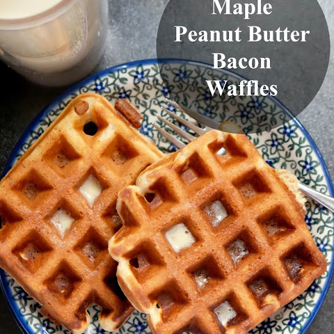 Maple Peanut Butter Bacon Waffles