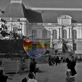 Just dare to dream by Ciprian Apetrei - Instagram & Mobile Other ( selective color, soap bubble, mobile photos, brittany, city )