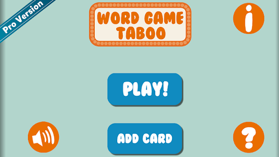 Taboo in English - screenshot