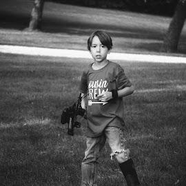 Shooting my bow by Kim Price - Babies & Children Children Candids ( boy, archery )