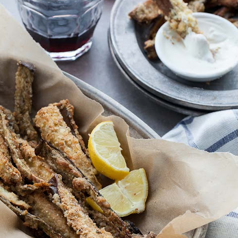 Baked Eggplant Fries with Goat Cheese Dip Recipe (Gluten-Free, Grain-Free)
