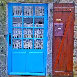 Door by Dobrin Anca - Buildings & Architecture Other Exteriors ( sky, blue, street, door, brittany,  )
