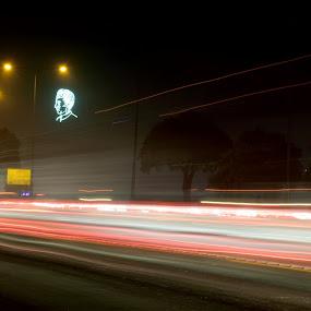 Quaid Portrait  by Tahir Sultan - City,  Street & Park  Street Scenes ( quaid, #nikon, #islamabad, #longexposure )