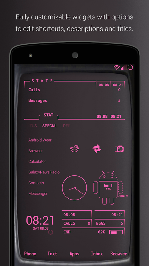 PipTec Pink Icons & Live Wall Screenshot