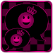 Pink Chess Crown GO SMS Theme Icon