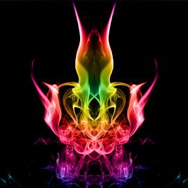 smoke face by Elchin Jabbarov - Abstract Light Painting ( nature, color, art, light, smoke )