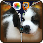 Puppy Lock Screen Zipper HD Icon